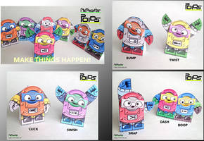 Poids - Poseable Papercraft Robots Series 1 by jimbox31
