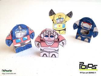 Transformers Fan Art Papercraft Poids by jimbox31