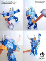 Shovel Knight Poseable Papercraft Fan Art by jimbox31
