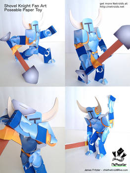 Shovel Knight Poseable Papercraft Fan Art