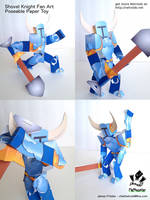 Shovel Knight Poseable Papercraft Fan Art by jimbox31