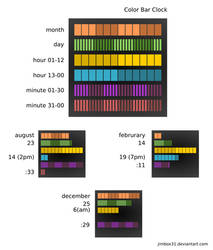 Color Bar Clock Concept by jimbox31