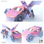 MASK Fan Art Paper Toy - Thunderhawk and Tracker by jimbox31