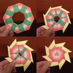 Transforming Star Wreath Papercraft by jimbox31