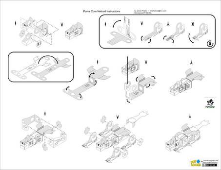 Instructions for Puma Core Netroid Papercraft by jimbox31