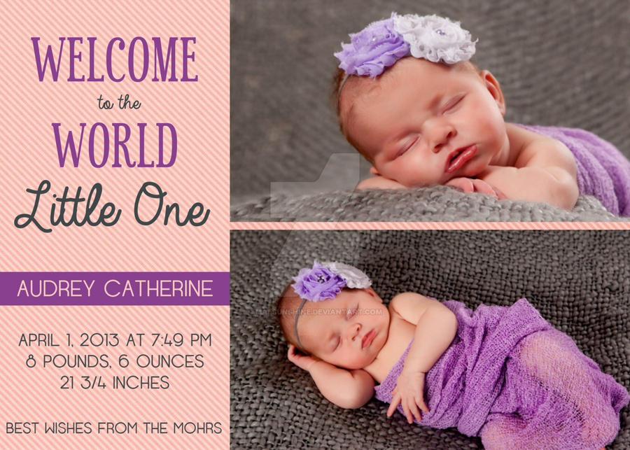 Birth Announcemnt by MalSunshine