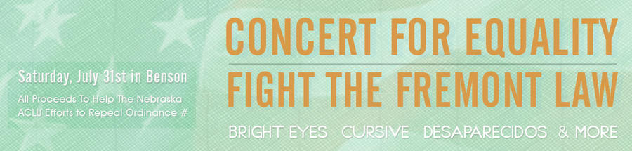 Equality Concert Banner by fulcrum-lever