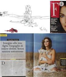 Claudia Gerini's Layout and Shooting by MarcoCalosci