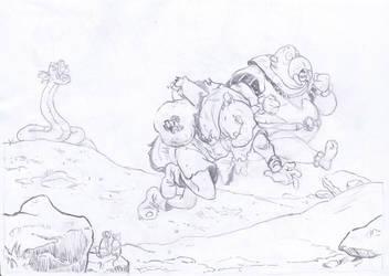 Walrus escape by MarcoCalosci