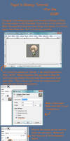 GIMP Tutorial Shimeji Making