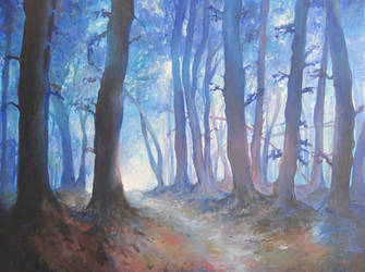 Blue Forest by alhopwood