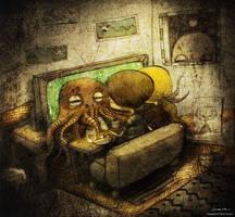 octopus love by berkozturk