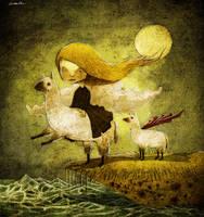 Llamas' angel by berkozturk