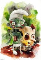 zombie smurf by berkozturk