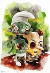 zombie smurf
