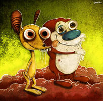 ren and stimpy by berkozturk