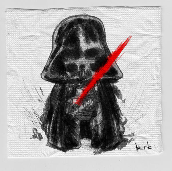 darth vader napkin sketch by berkozturk