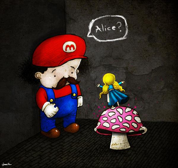 magic mushroom by berkozturk