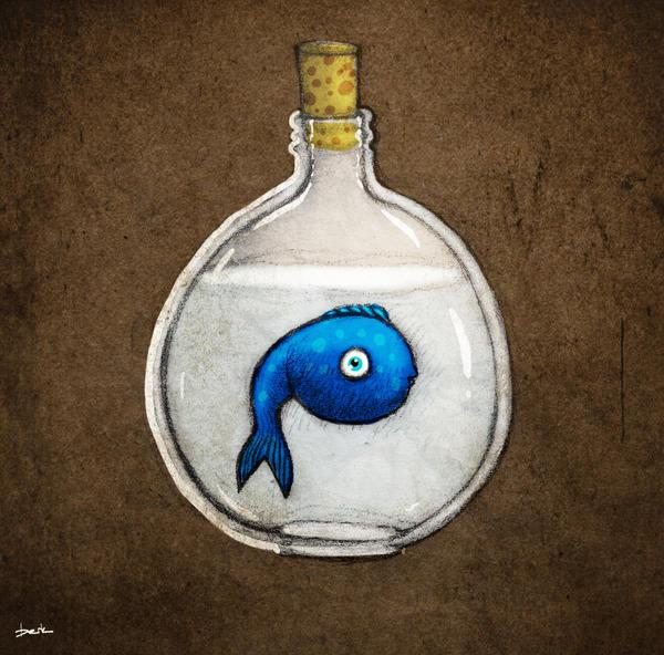 twitter fish by berkozturk