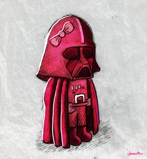 pink vader by berkozturk