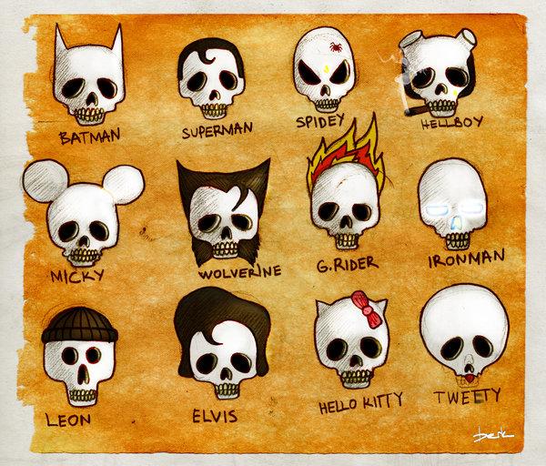 skull heroes by berkozturk