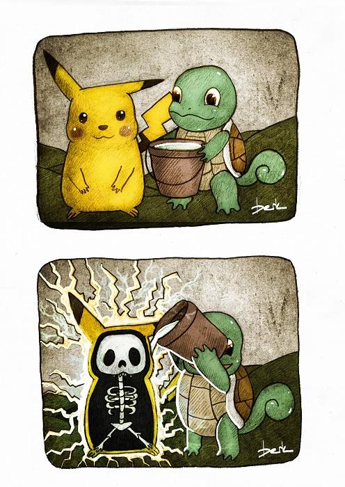 pikachu ice bucket challenge by berkozturk