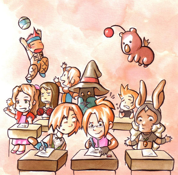 Final Fantasy Chibi by Gigei