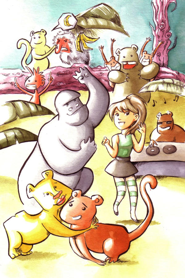 Monkey's party by Gigei