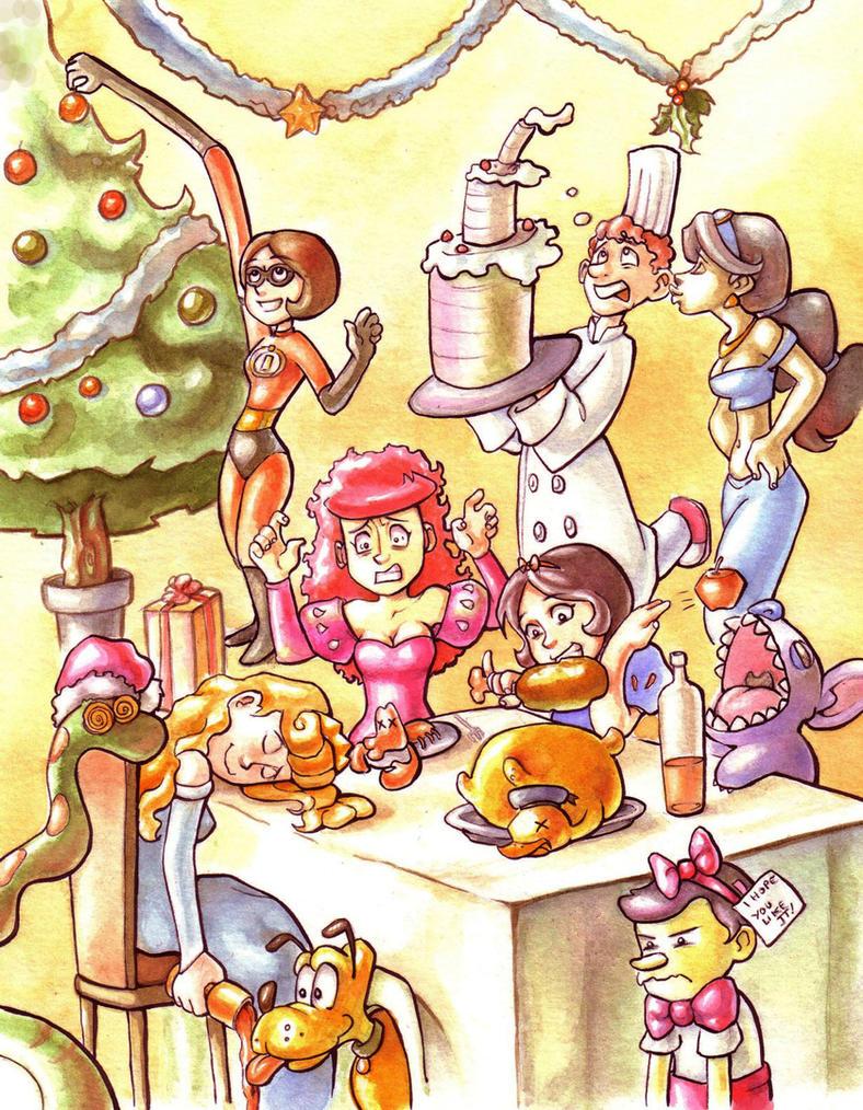 Disney Christmas by Gigei