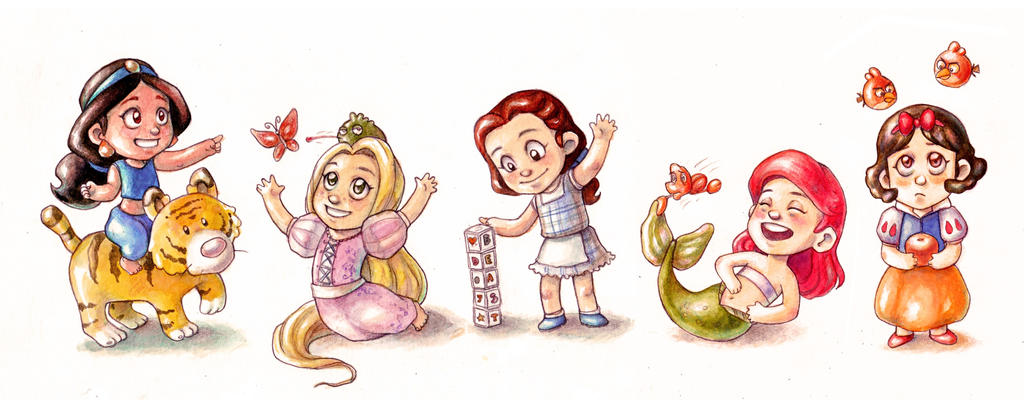 Disney Babies by Gigei