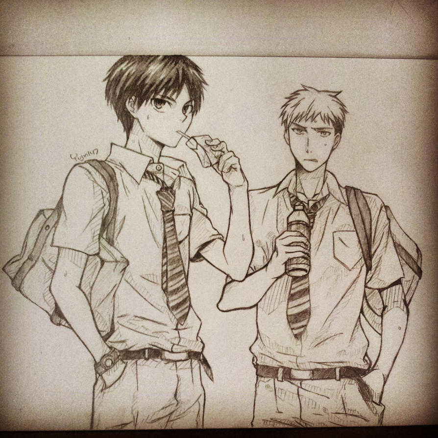 Eren and Jean by yujin147
