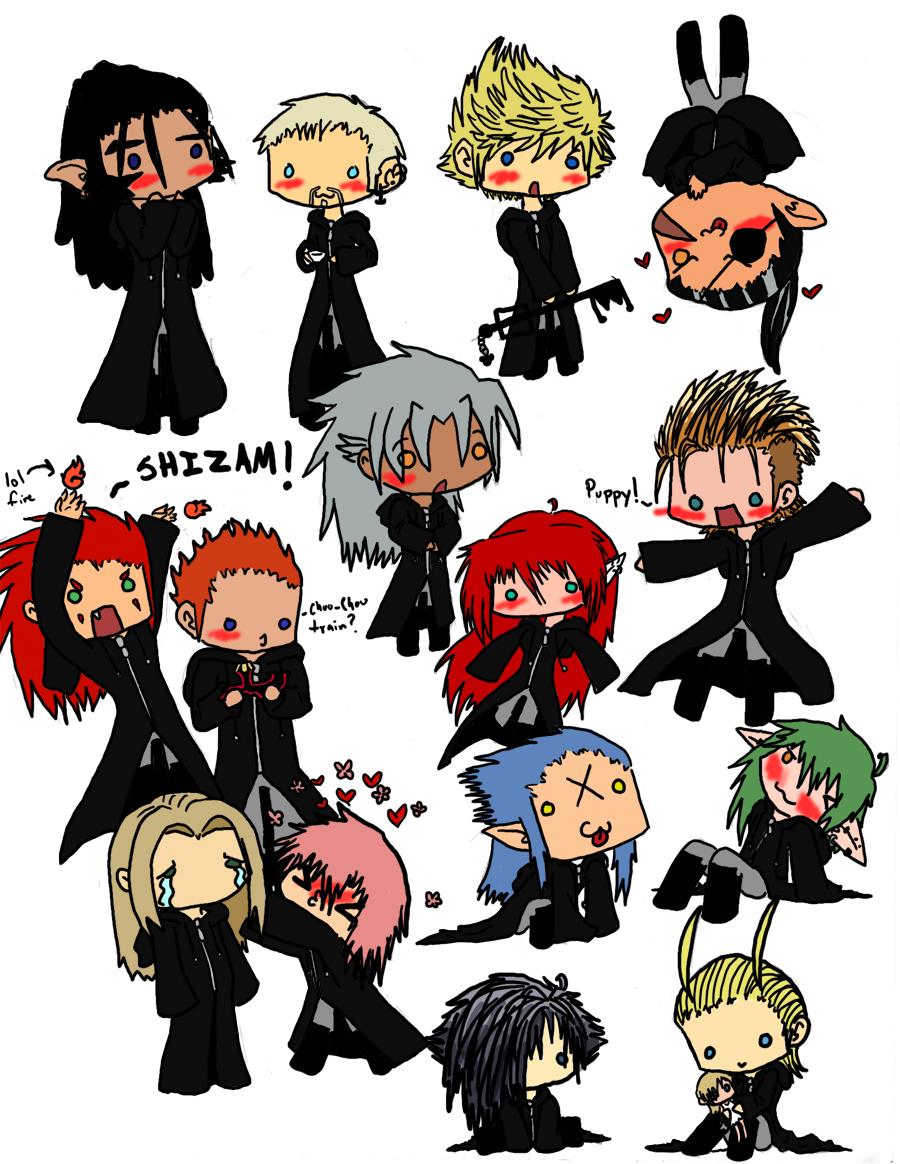 XIII Chibi Nobodies ver 1 by XxoOjunefoxOoxXXemnas Kingdom Hearts Chibi