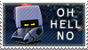 WALL-E Stamp: Oh Hell No by XxoOjunefoxOoxX