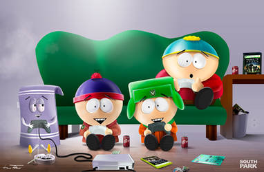 South Park n Halo by microbot23