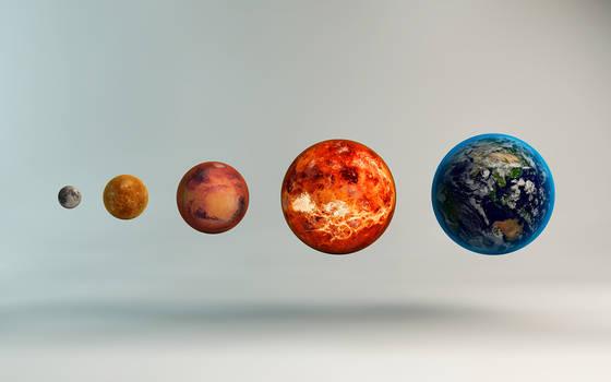 Inner Solar System Sizes