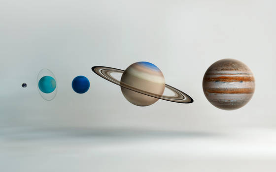 Outer Solar System Compared
