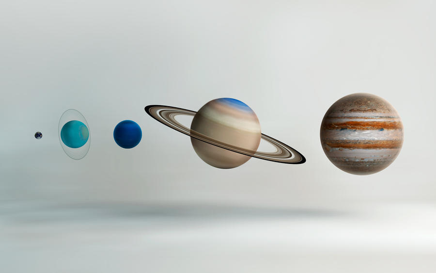 Outer Solar System Compared by microbot23