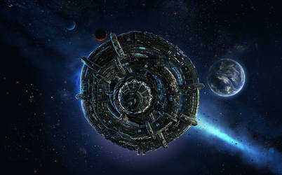 Kushan Spacestation by microbot23