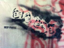 deep purple in... stencil