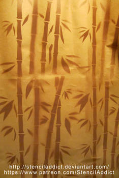 Old Bamboo Stencil