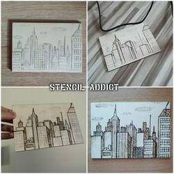 Pyrographed City