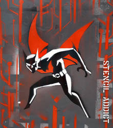 Batman Beyond Stencil