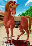 Girl transformation horse pg.4