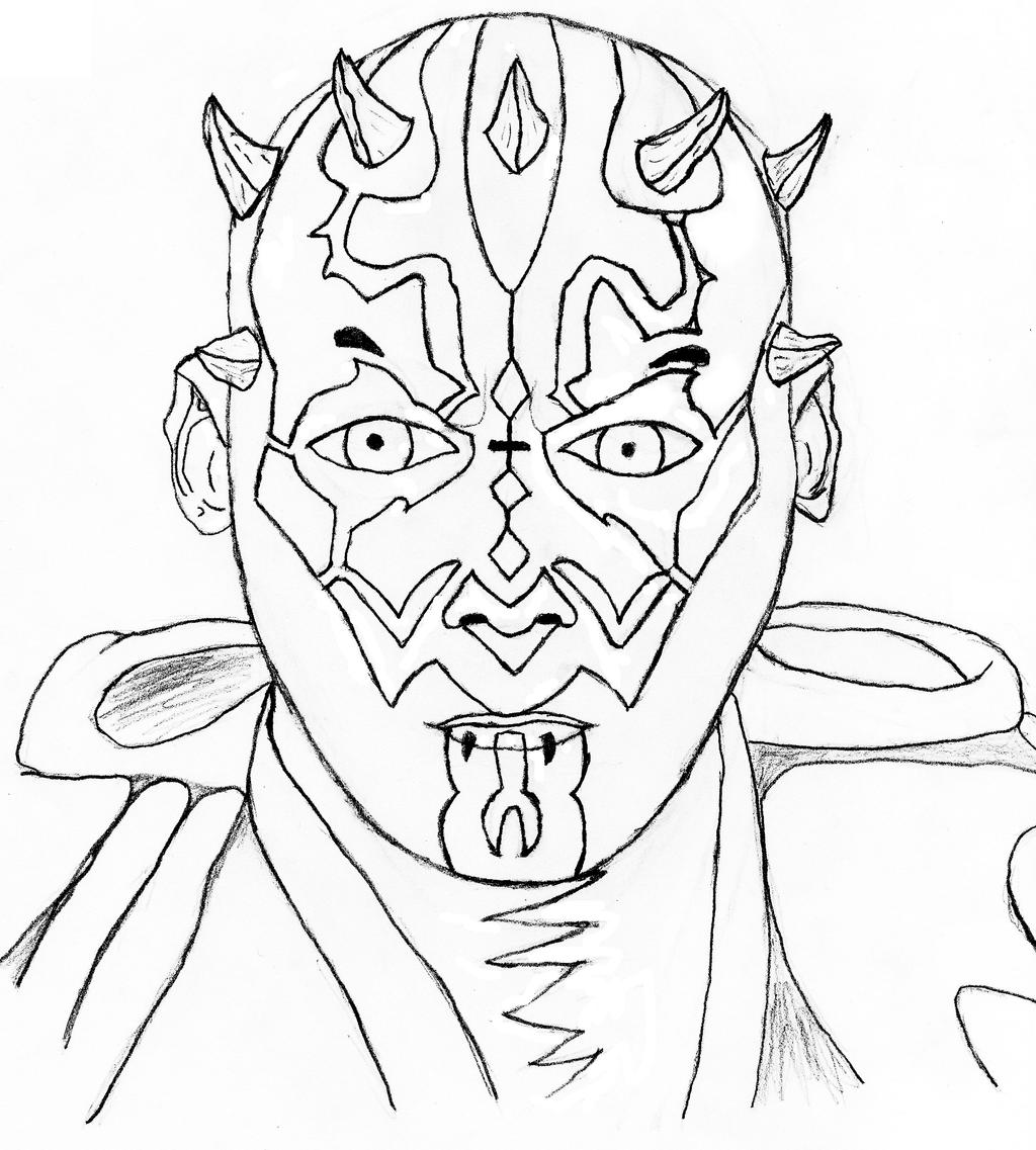 darth maul coloring pages - 848×942