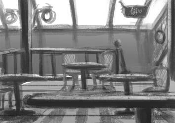 Speedpainting Practice 002: Cafe by renKa002