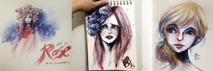 Art Dump: Watercolors 001 by renKa002