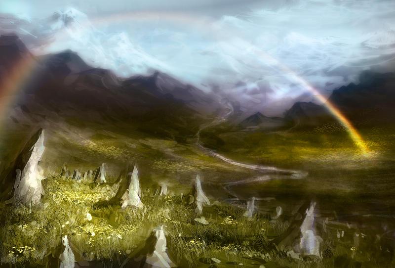 Mountain Field by hungerartist