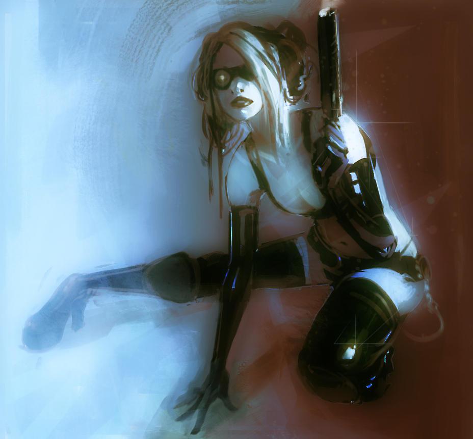 Gun Lady by hungerartist
