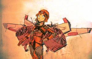Jetpack Girl by hungerartist