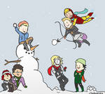 Avengers: Snowball Fight